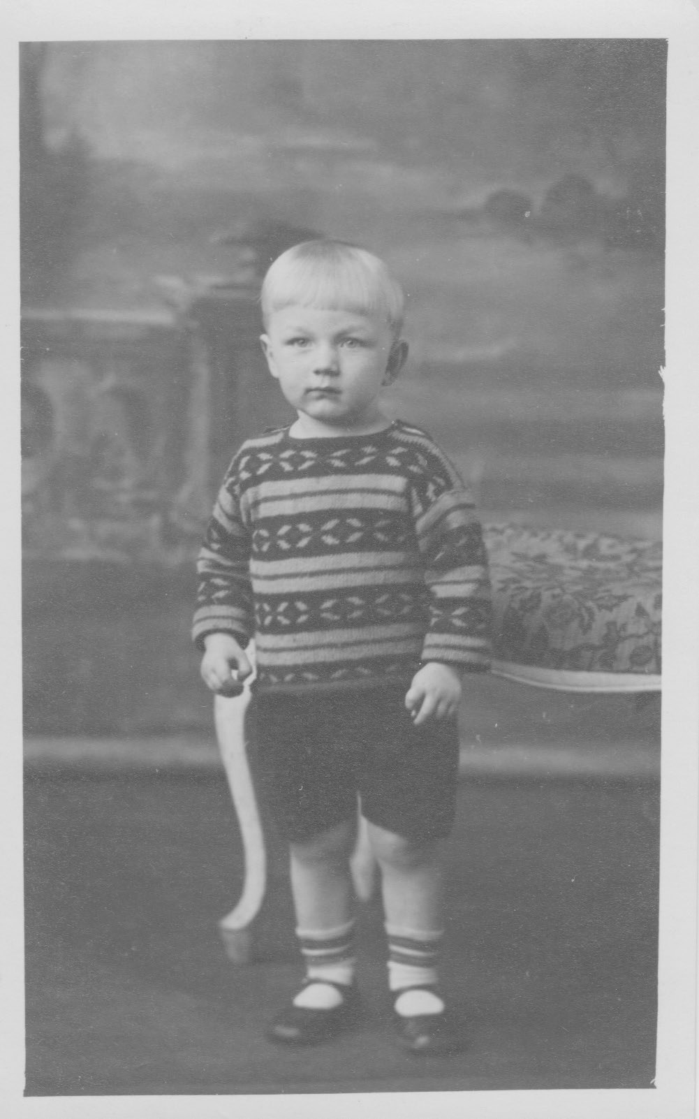 Ivor Treby at nearly two years old in 1934.