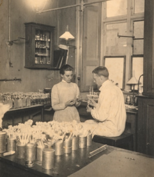 Mabel FitzGerald and Georges Dreyer, Copenhagen State Serum Institute 1901/1902