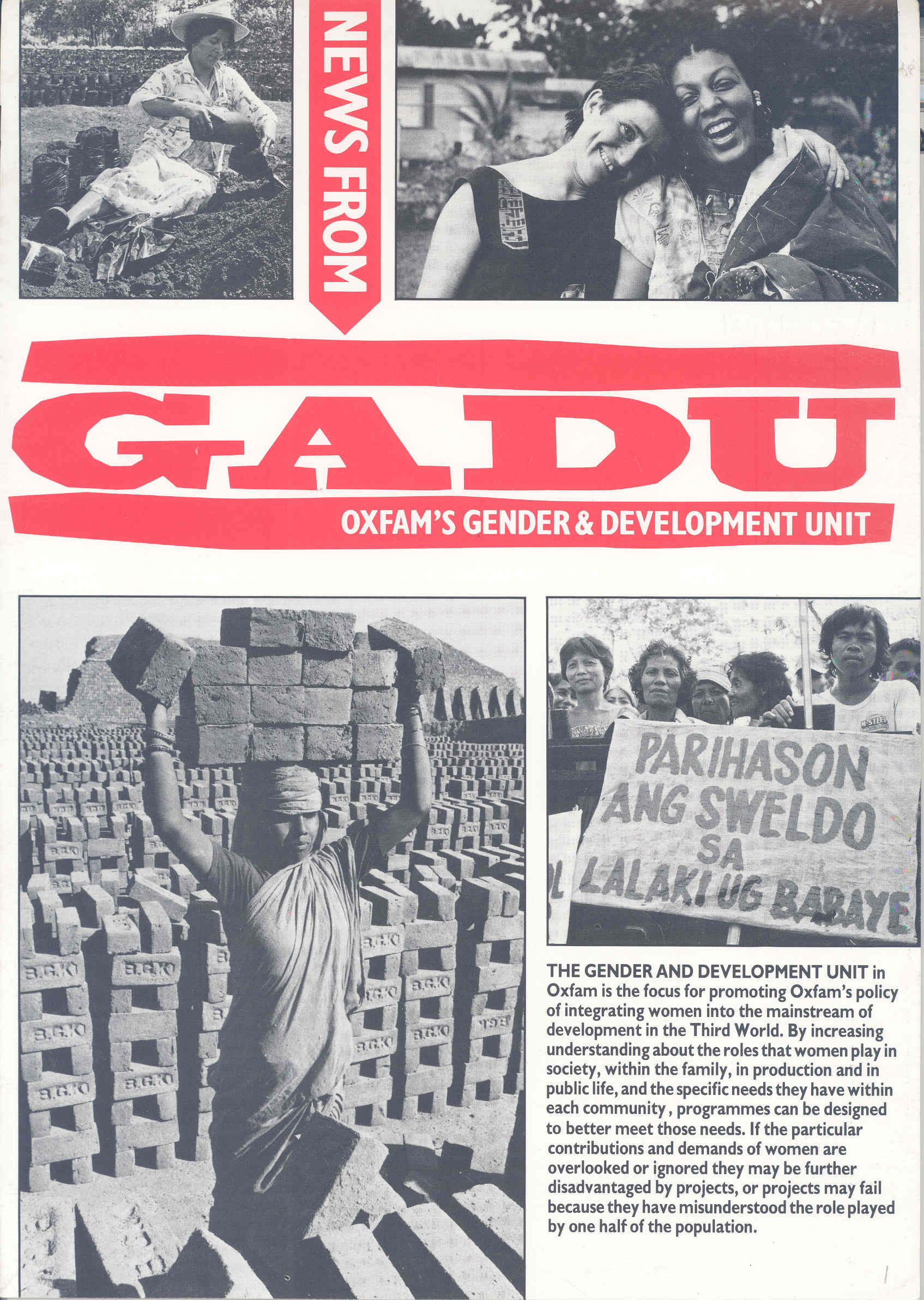 News from GADU - First edition 1987