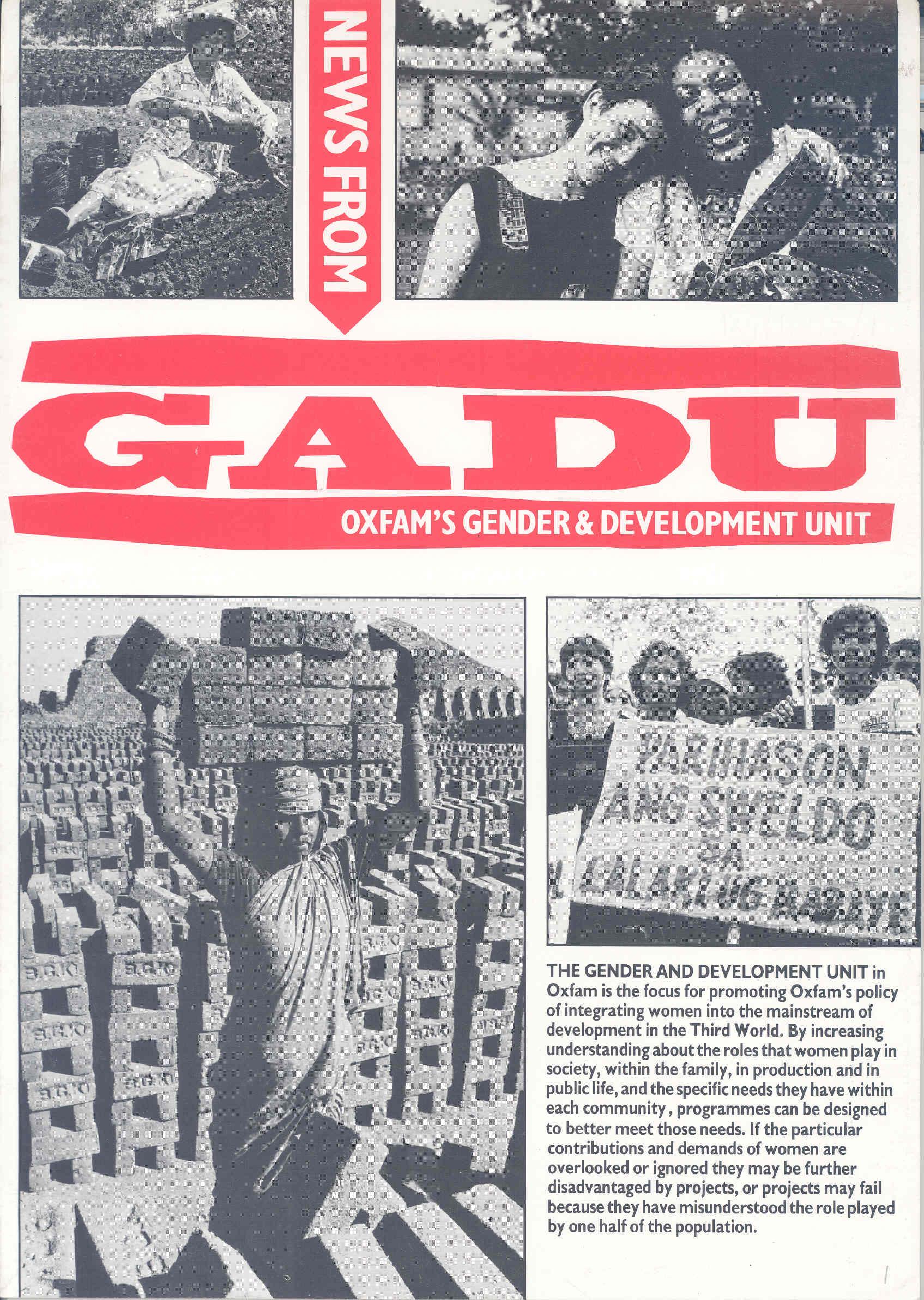 News from GADU - First edition 1987