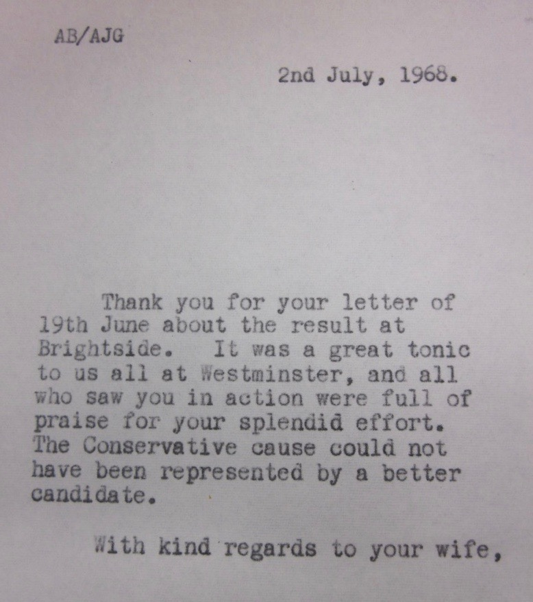 Anthony Barber letter to Colin Renfrew