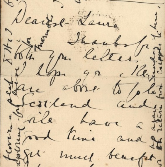 Letter Mabel FitzGerald in Colorado Springs to her sister Laura in Oxford, 18 July 1919 (1v).