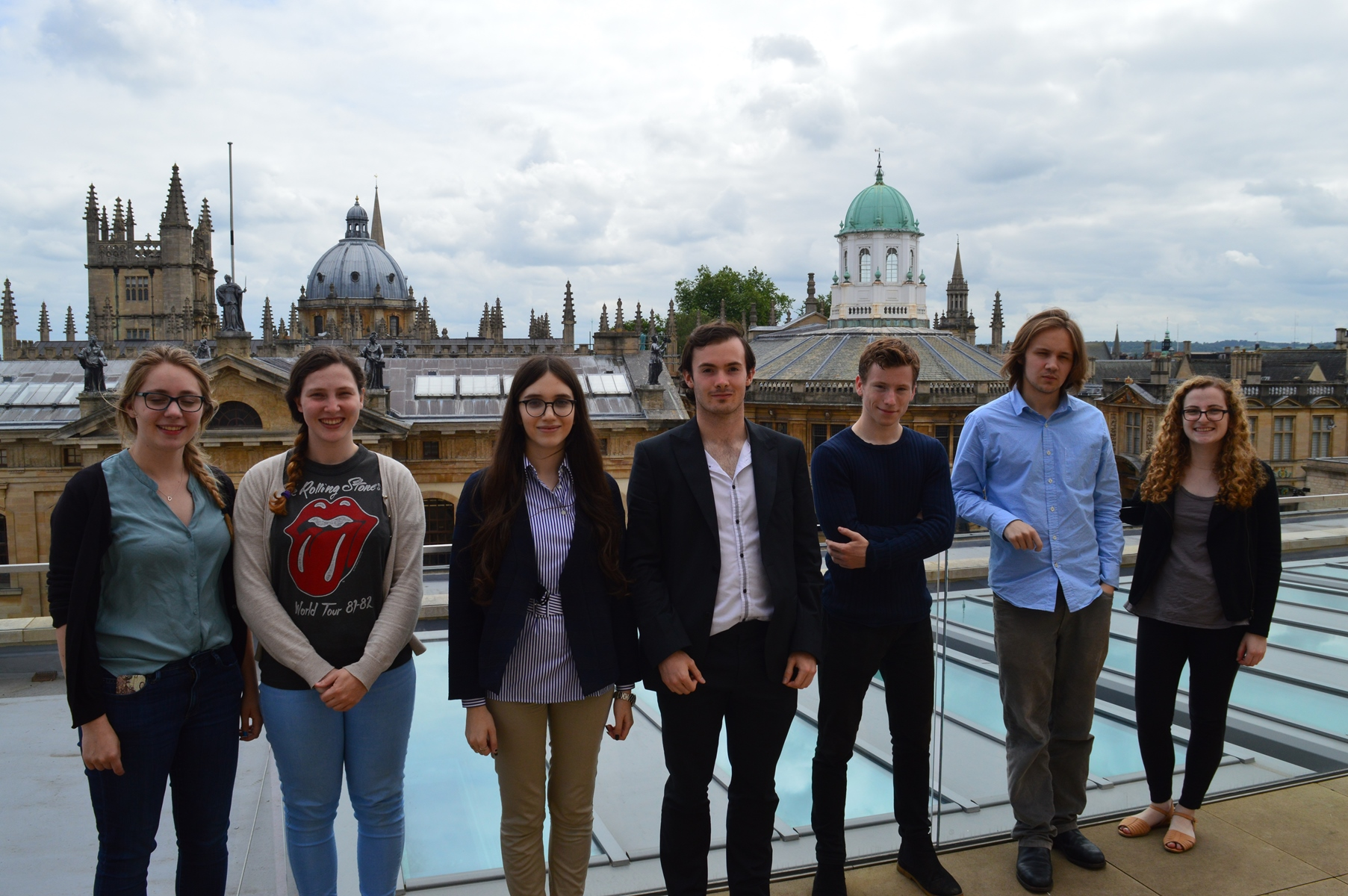 Web archiving micro-interns on the roof of the Weston Library, June 2016.