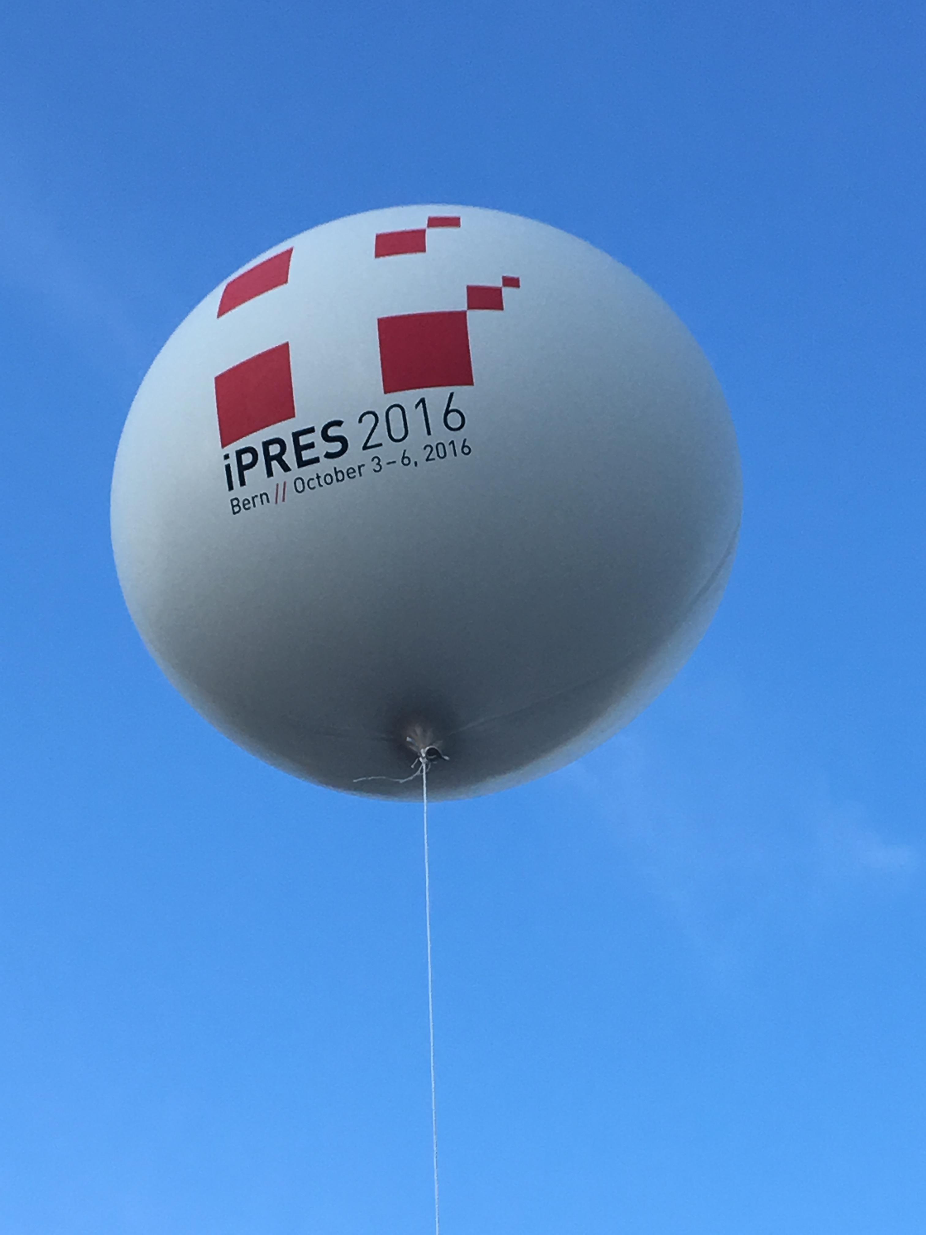 iPRES 2016 balloon