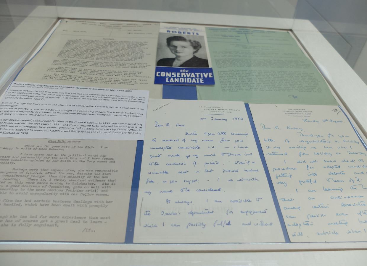 Margaret Thatcher display case