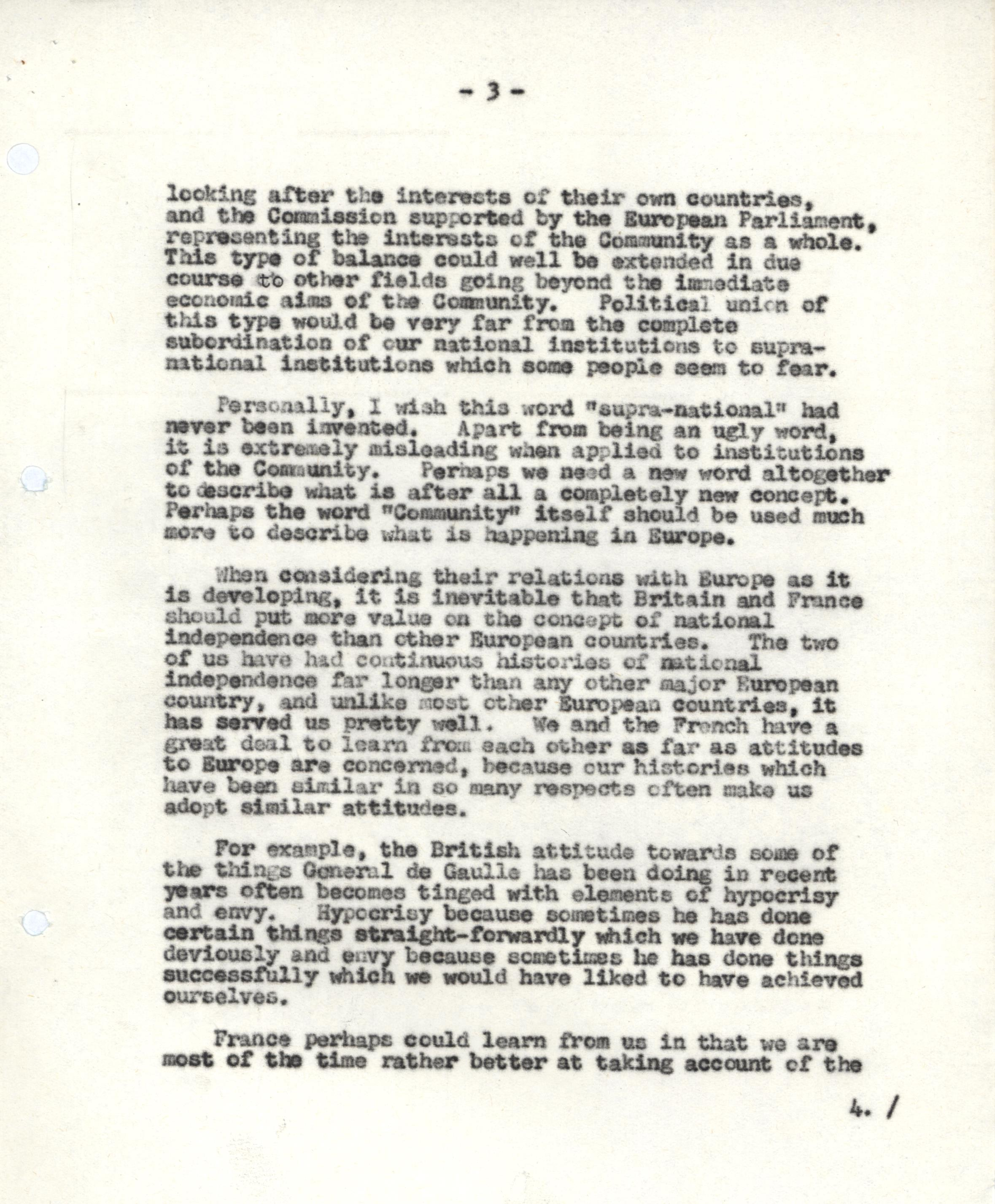 CRD 3/10/2/1/1: 'Brief for Mr Heath for the Television Programme 'Britain in Search of a Continent' on 9th June' (8 Jun 1966).
