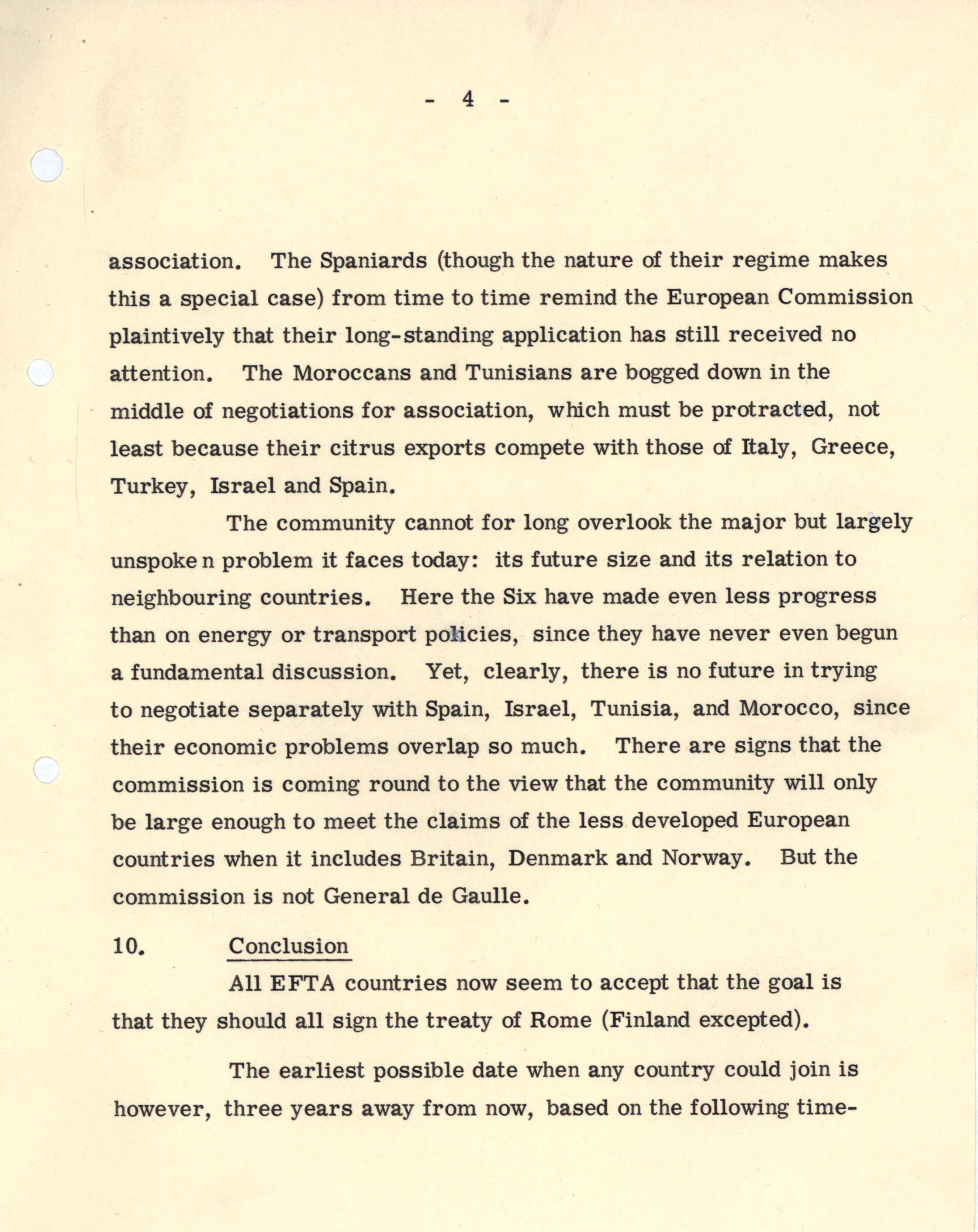 CRD 3/10/2/3: 'EFTA + Appreciation for Association to EEC' (28 Oct 1966).