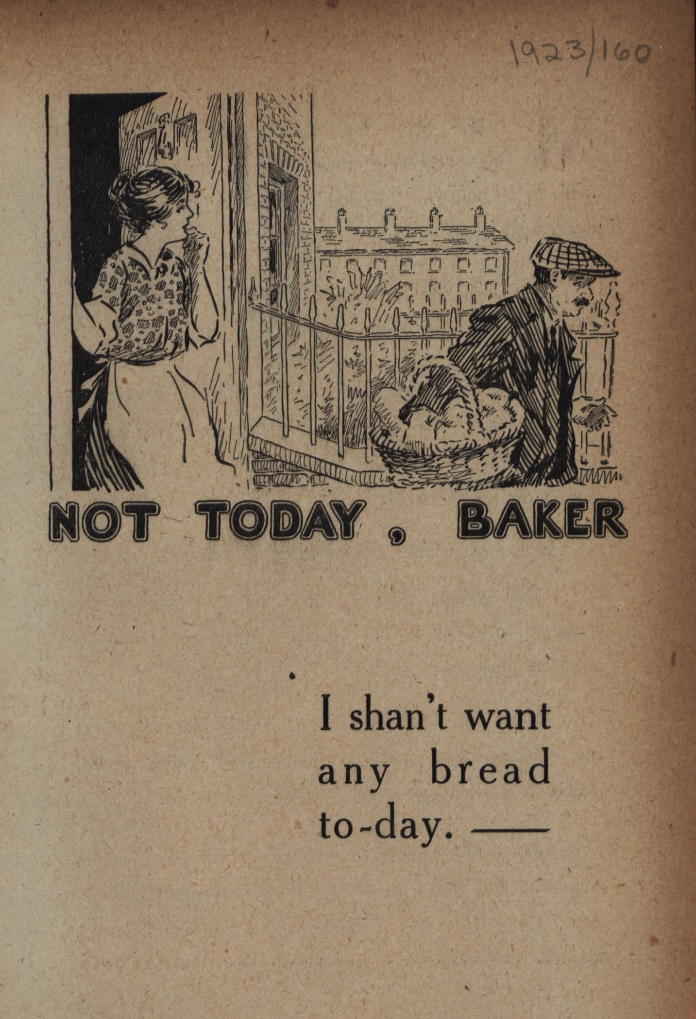 Not today, Baker leaflet