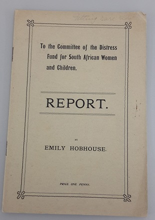 Report on the conditions in the camps for the Committee of the Distress Fund for South African Women and Children, MS. Hobhouse 4