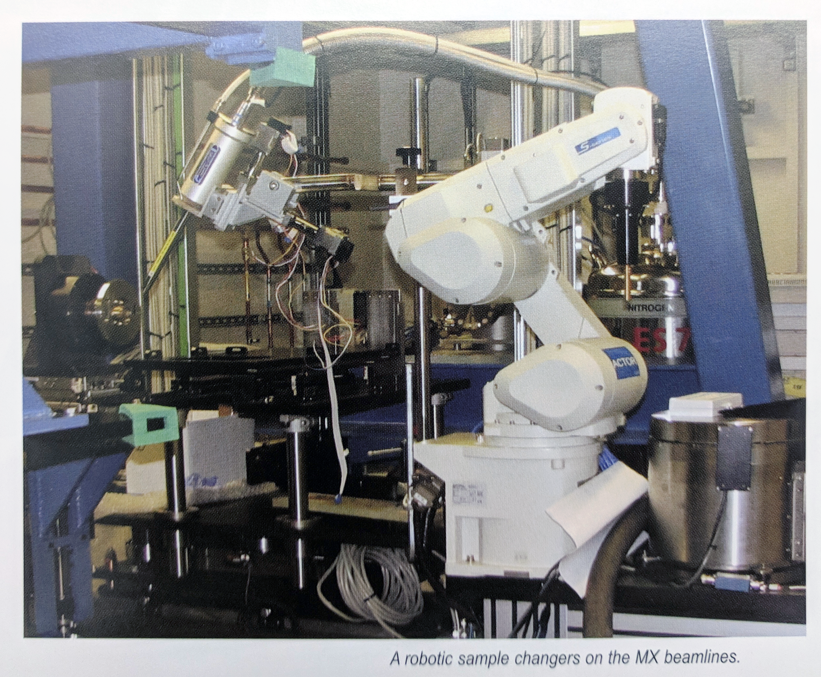 Robotic sample changers on the MX beamlines.