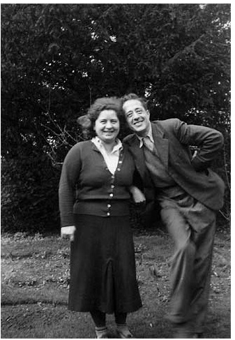 Ilsa & Arturo in their garden