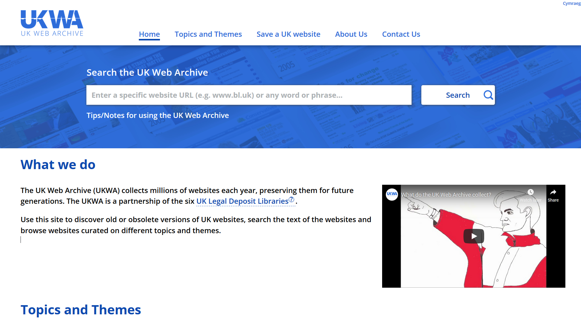 Introducing the new UK Web Archive website   Archives and