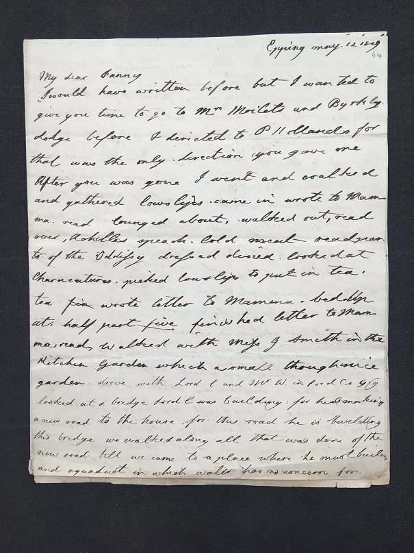 Francis's letter (MS. Eng. Lett. c. 744 fol. 44)