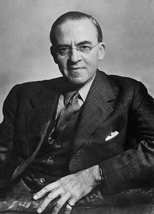 Black and white portrait of Sir Stafford Cripps, c. 1947 [Dutch National Archives, The Hague, Fotocollectie Algemeen Nederlands Persbureau (ANEFO)] [Creative Commons CCO 1.0]
