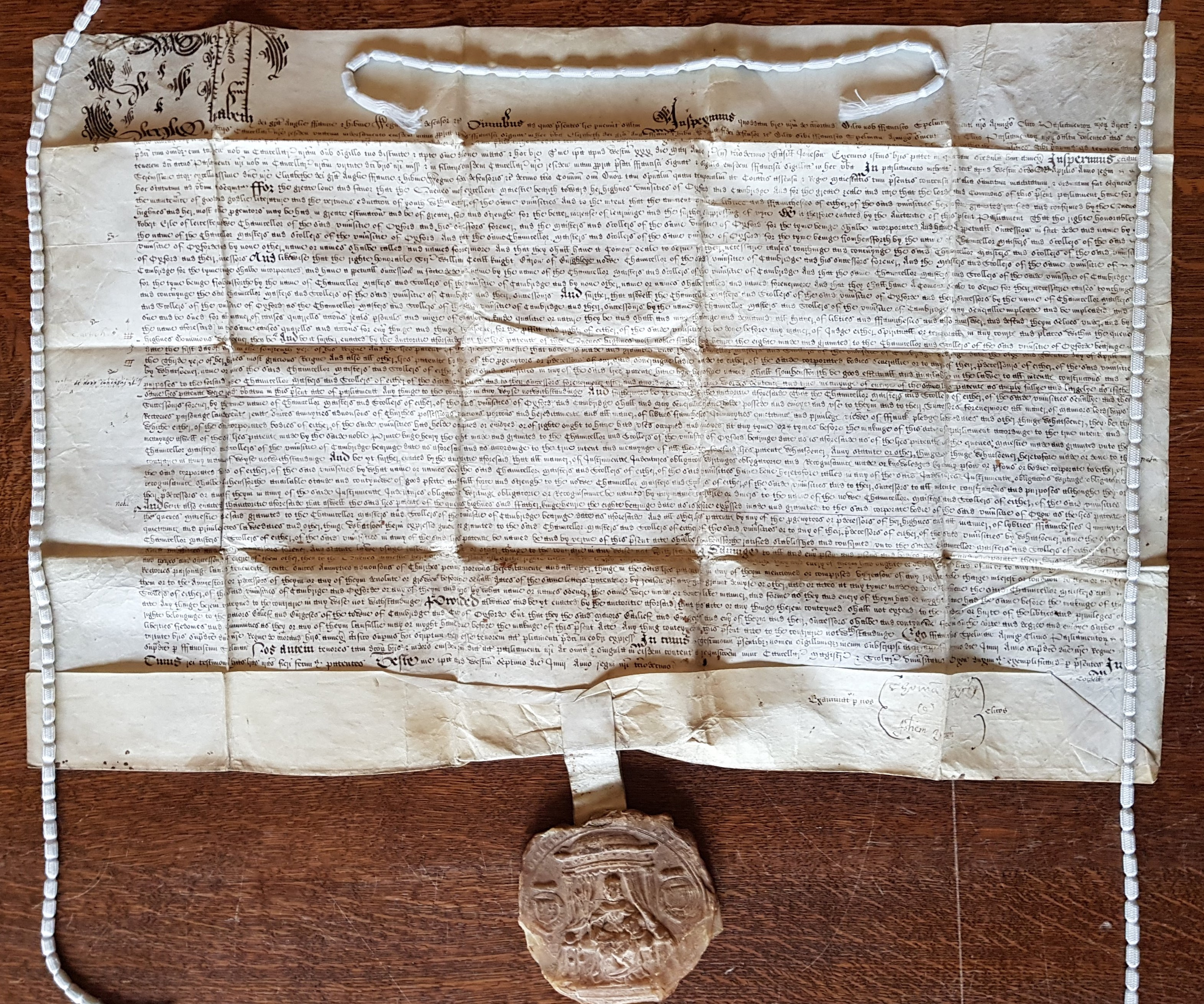 Exemplification of the Act of 1571