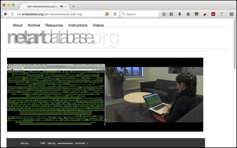JODI - netart.database