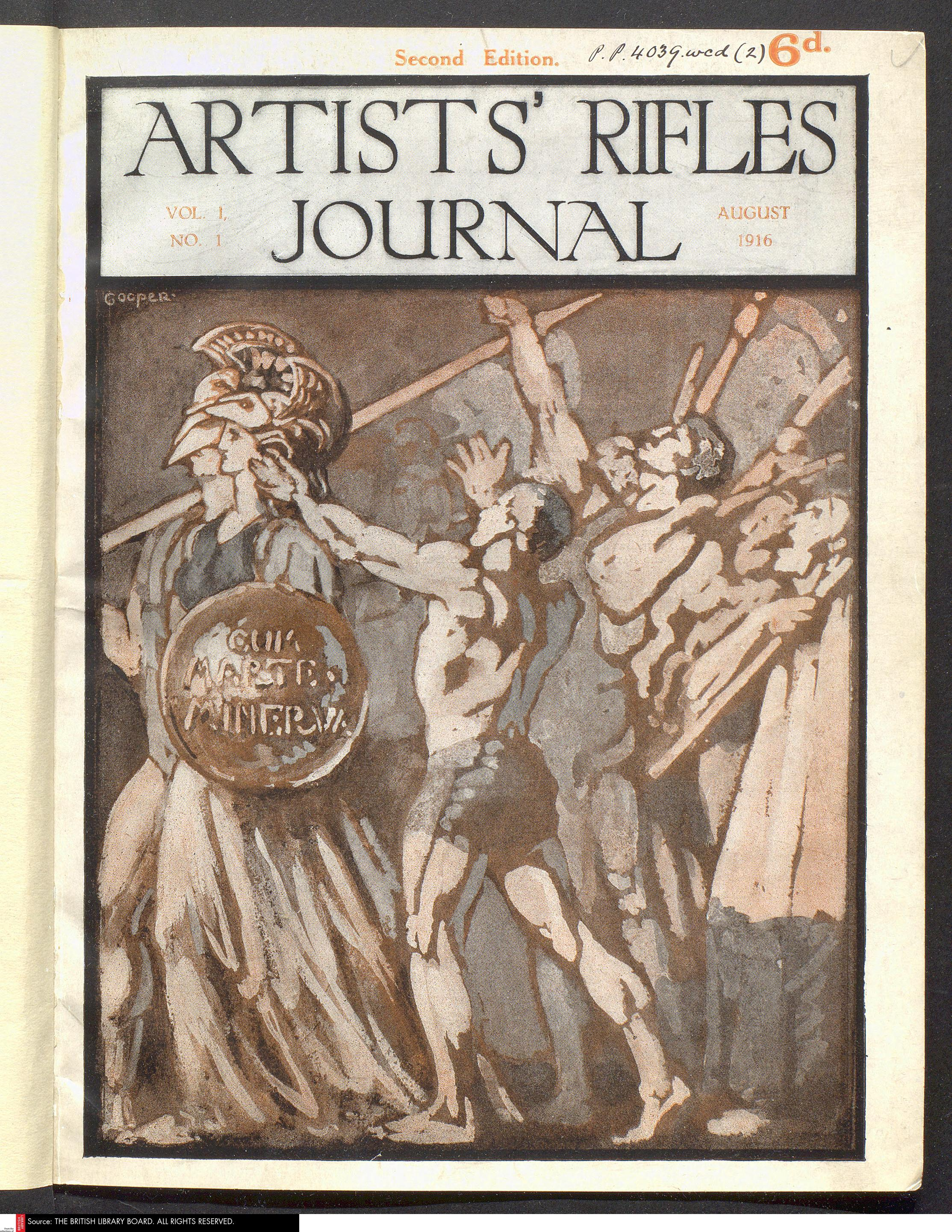 Cover of the Artists Rifles Journal