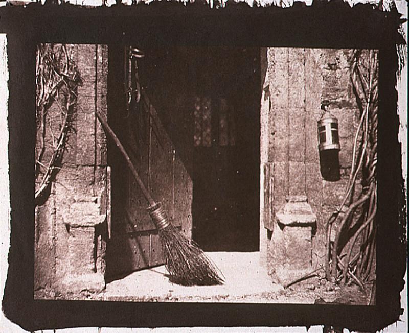 Broom in doorway