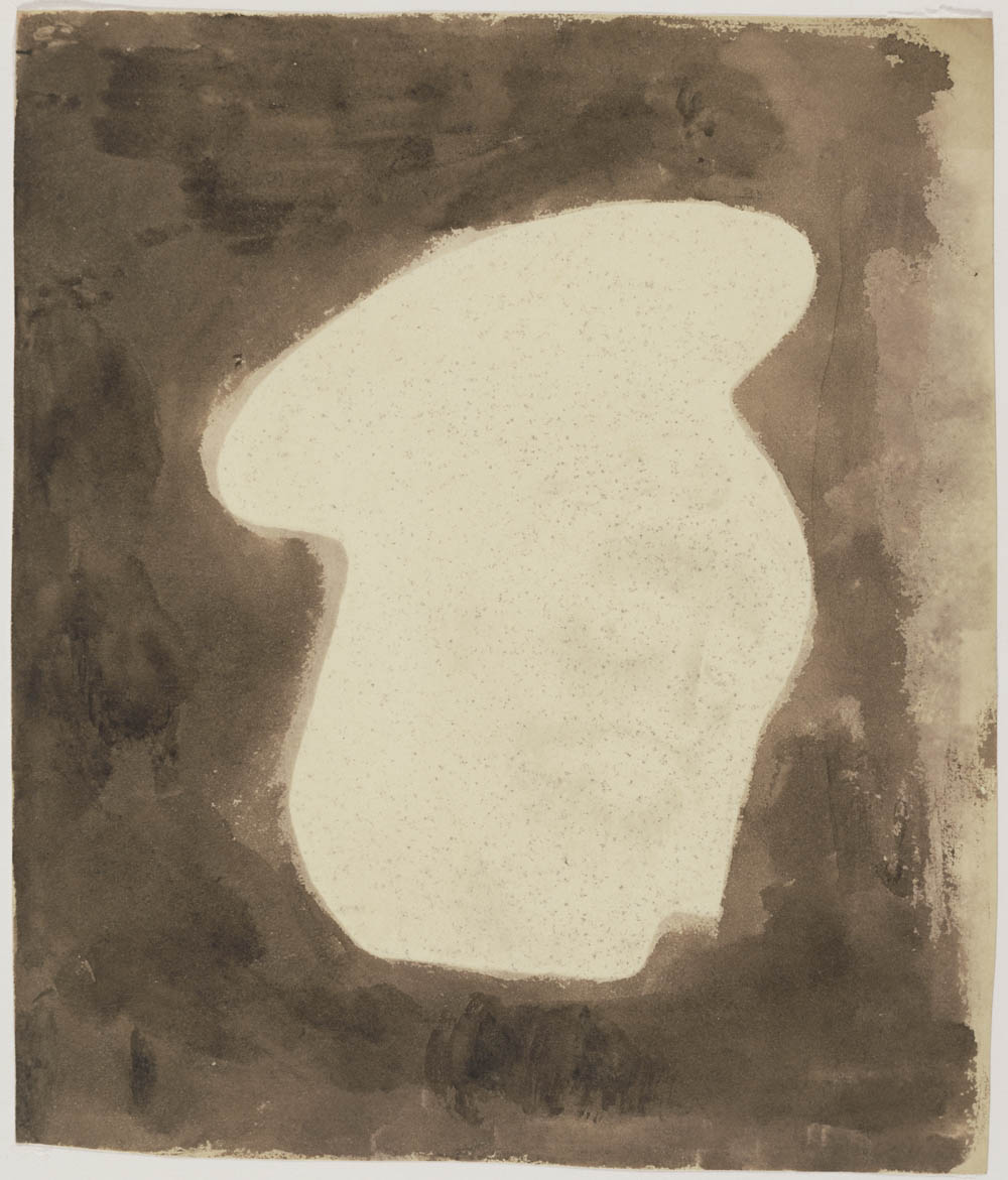 [The Head of Christ from a Painting on Glass]; William Henry Fox Talbot, British, 1800 - 1877; England, Europe; 1839; Photogenic drawing negative, iodide fixed; Image: 20.8 x 17.6 cm (8 3/16 x 6 15/16 in.); 84.XM.1002.44