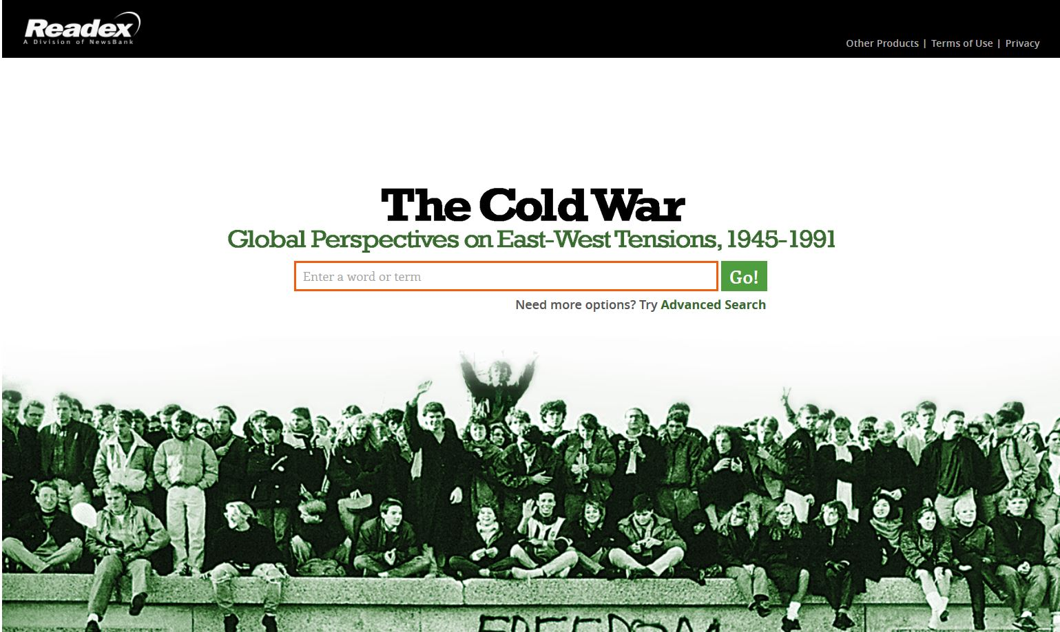 Cold War - Readex - frontpage