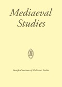 Mediaeval Studies (PIMS) cover