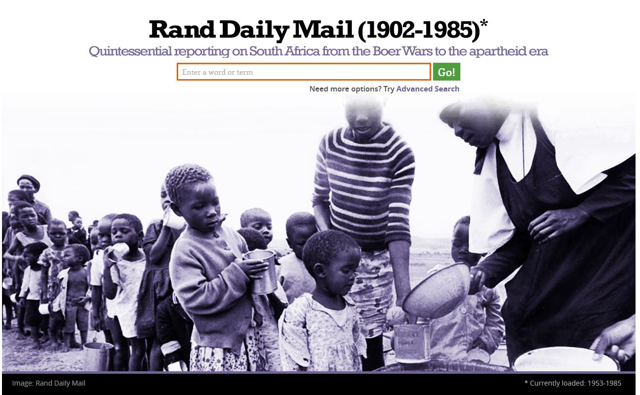Rand Daily Mail - screenshot