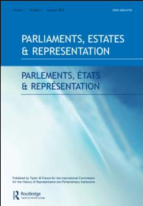 Parliaments estates and representations - cover