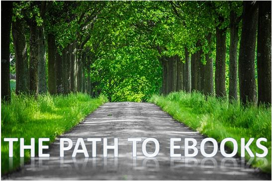 Path to ebooks - wood