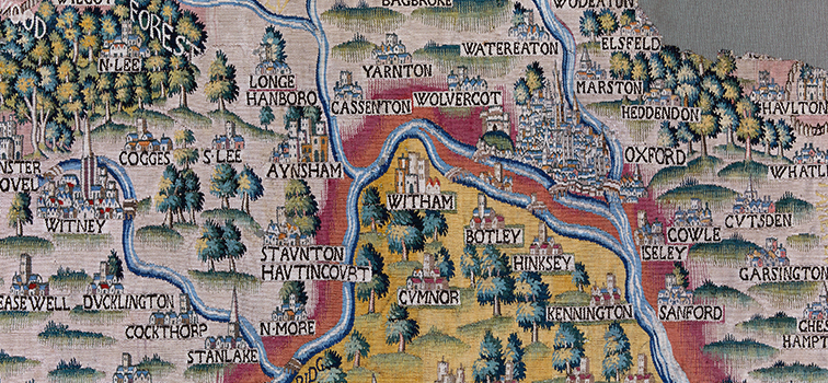 Sheldon Tapestry Map of Oxfordshire