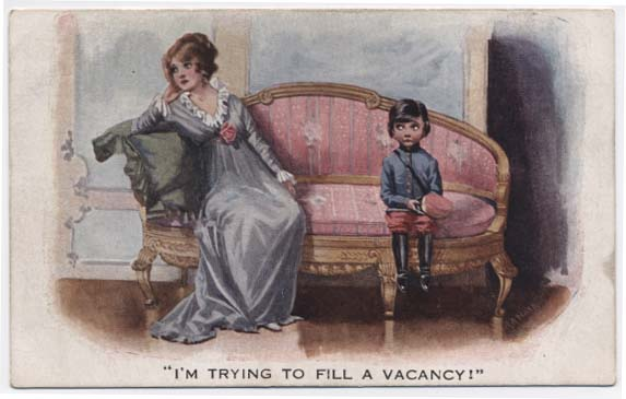 WW1 postcard: I'm trying to fill a vacancy""