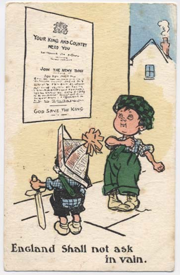 WW1 postcard: England shall not ask in vain