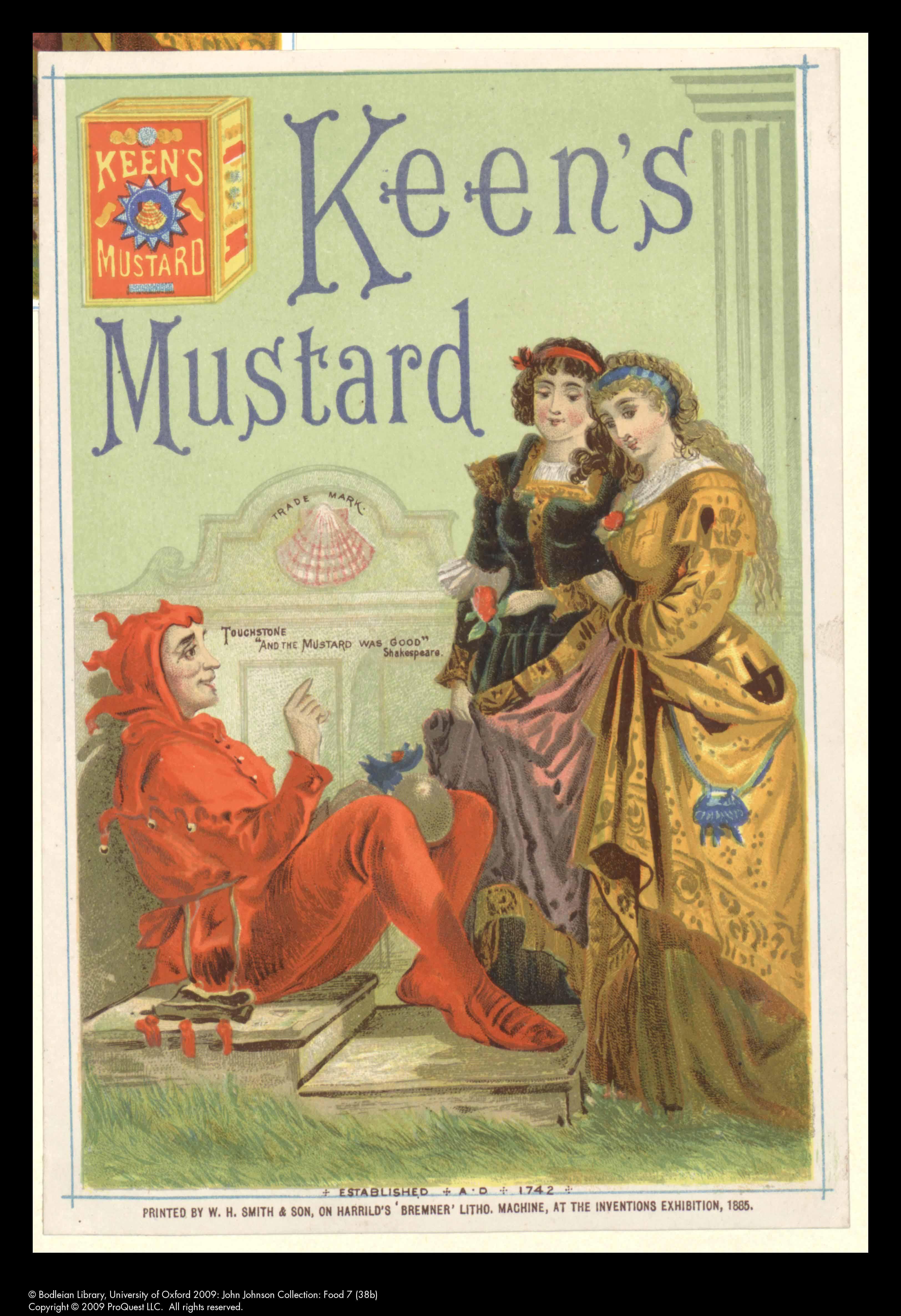 Keen's mustard ad