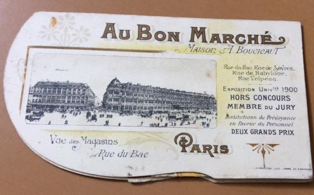 Au Bon Marché ad: back