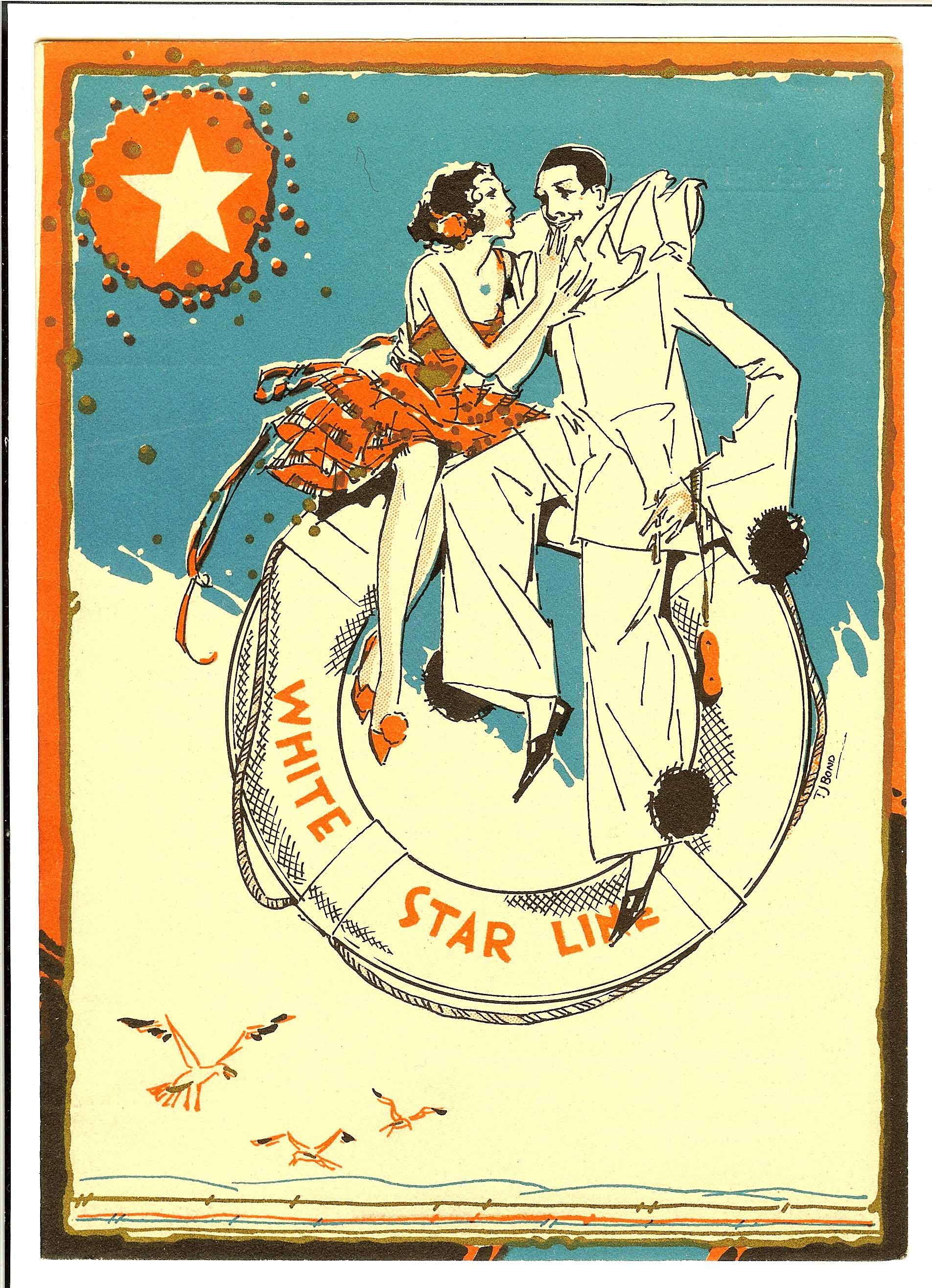 Cover of White Star Menu Homeric 1934