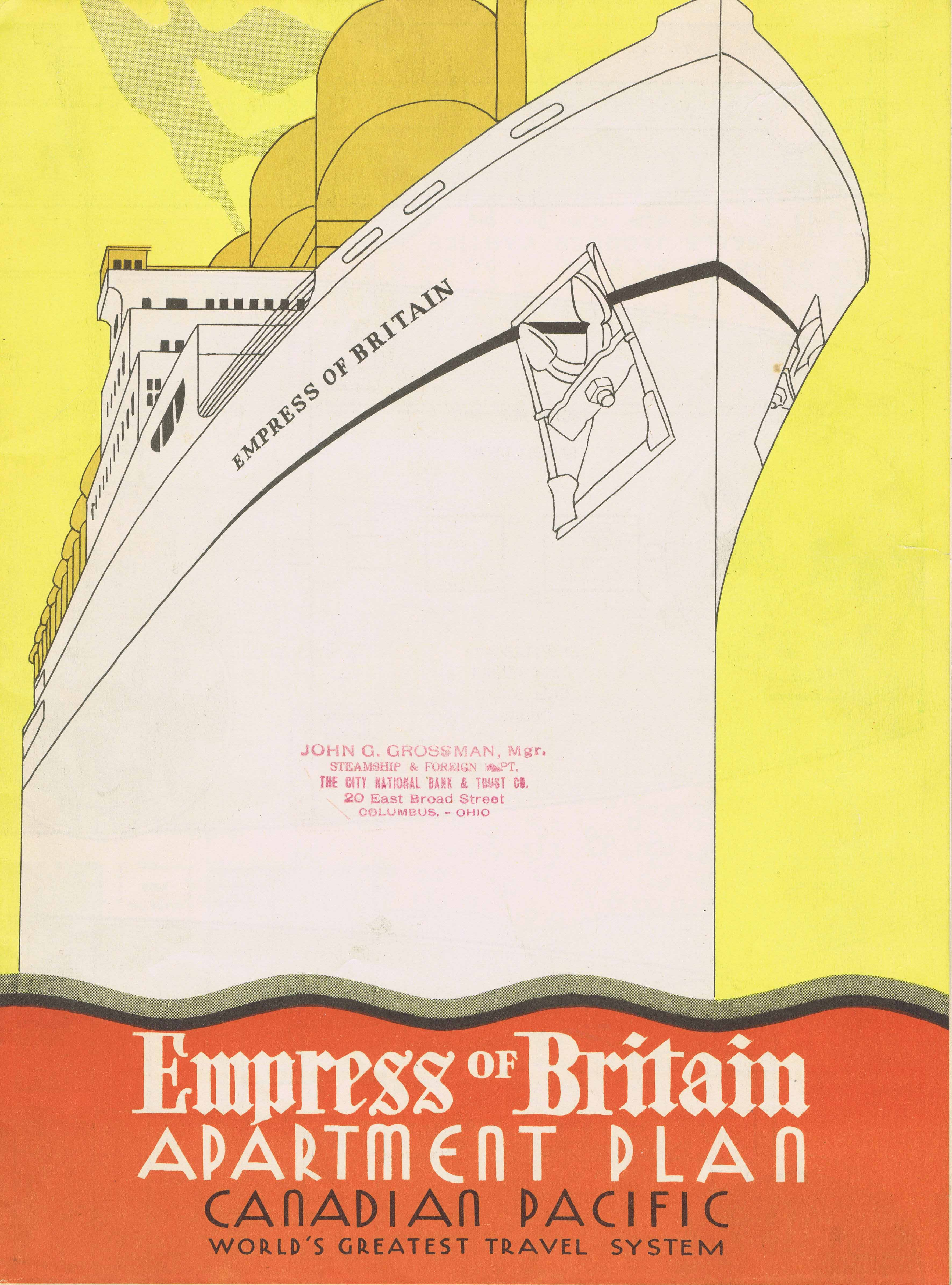 Empress of Britain brochure cover