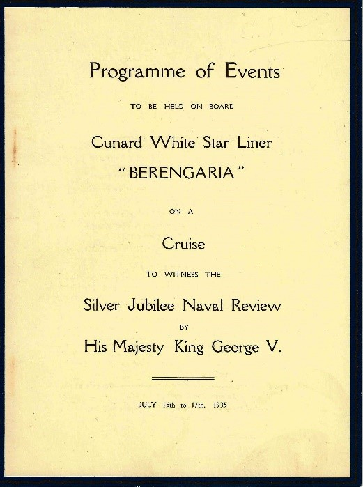 Berengaria programme of events