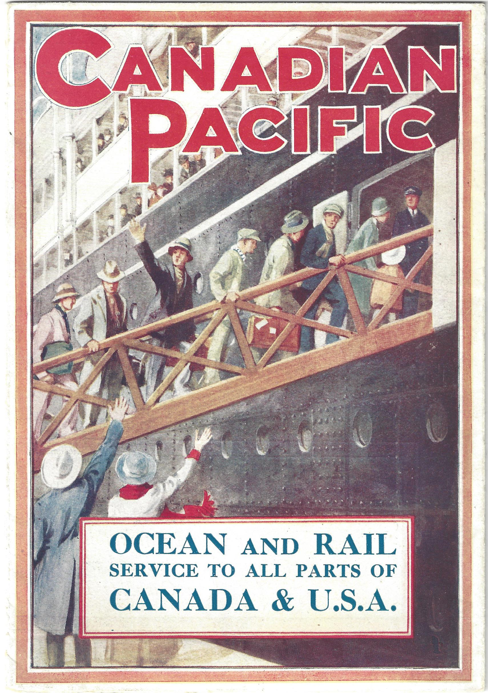 Canadian Pacific Ocean and Rail Service brochure