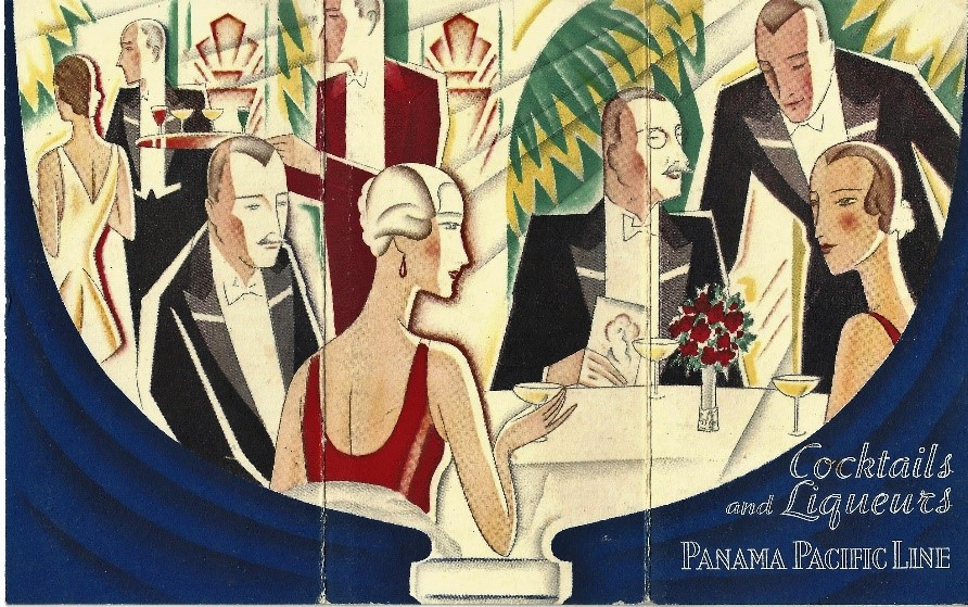 Cocktails and Liqueurs. Panama Pacific Line
