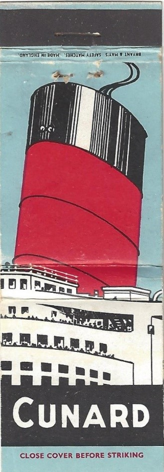 Matchbook Cunard cover