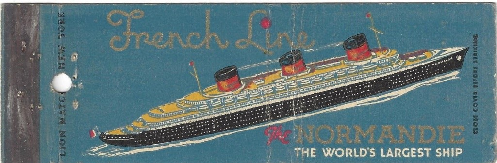 Matchbook cover: French Lines (Normandie)