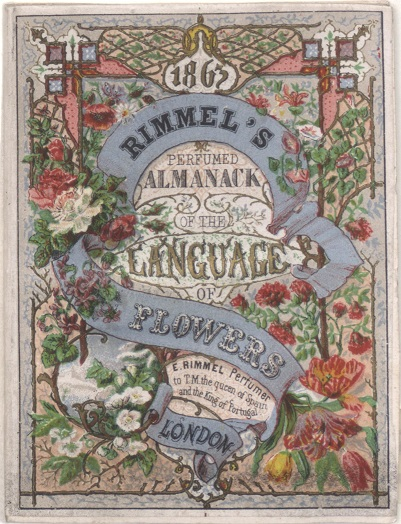 Rimmel's almanac: Language of Flowers, 1884 (cover)