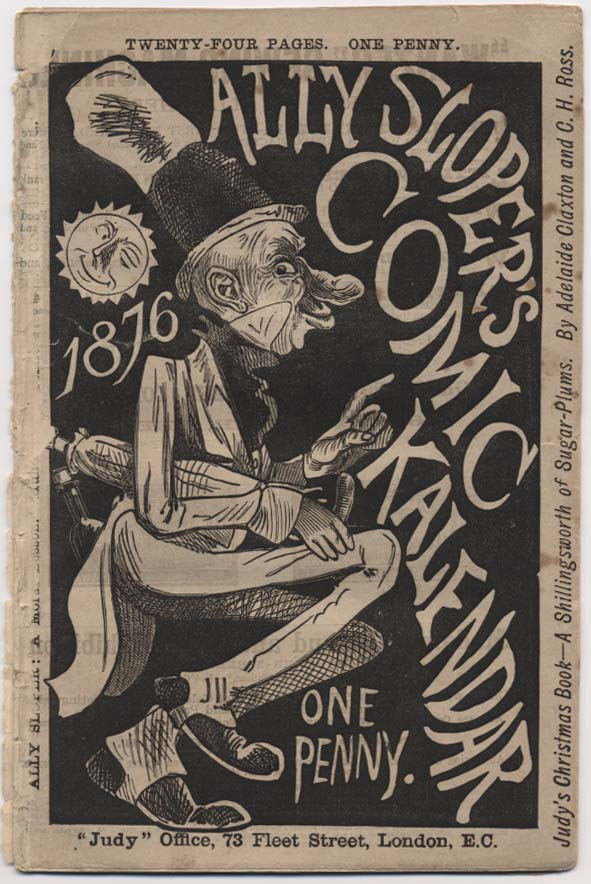 Cover of the first issue of Ally Sloper's Comic Kalendar, 1876.