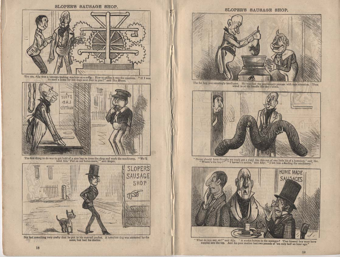 Double spread from Ally Sloper's Comic Kalendar, 1876