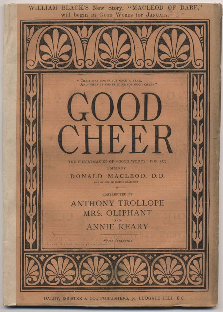 Cover of Good Cheer, the Christmas annual of Good Words, 1877