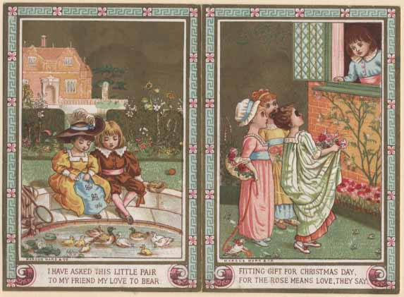 Kate Greenaway card for Marcus Ward.