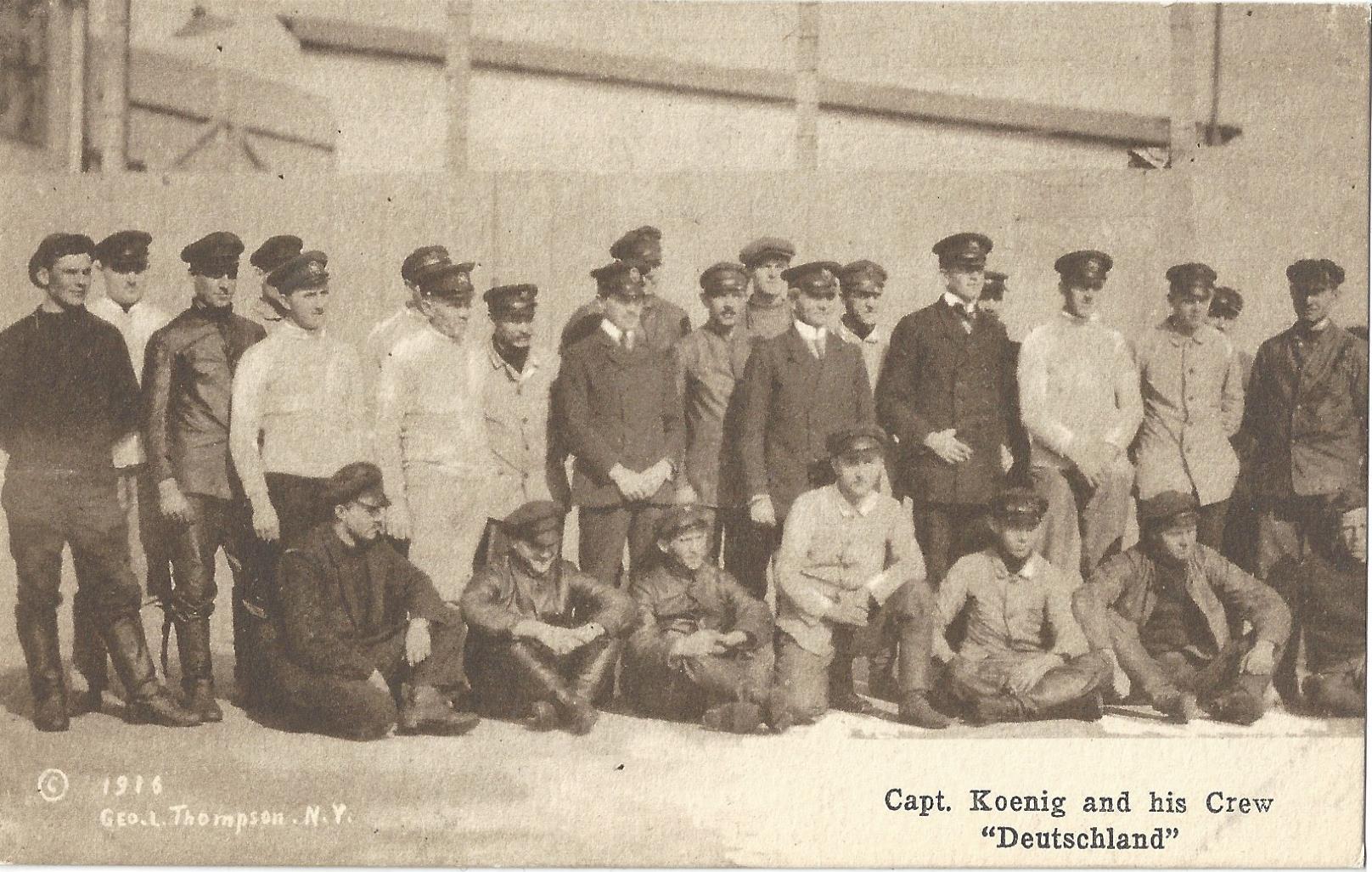 Deutchland Crew postcard