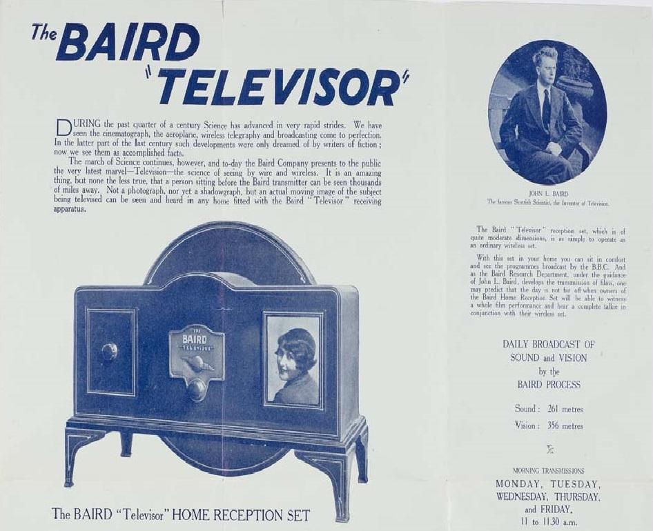 The Baird Televisor, leaflet c. 1933