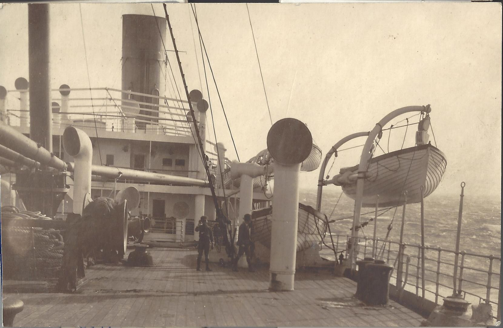 S.S. Euripides. At sea en route to England