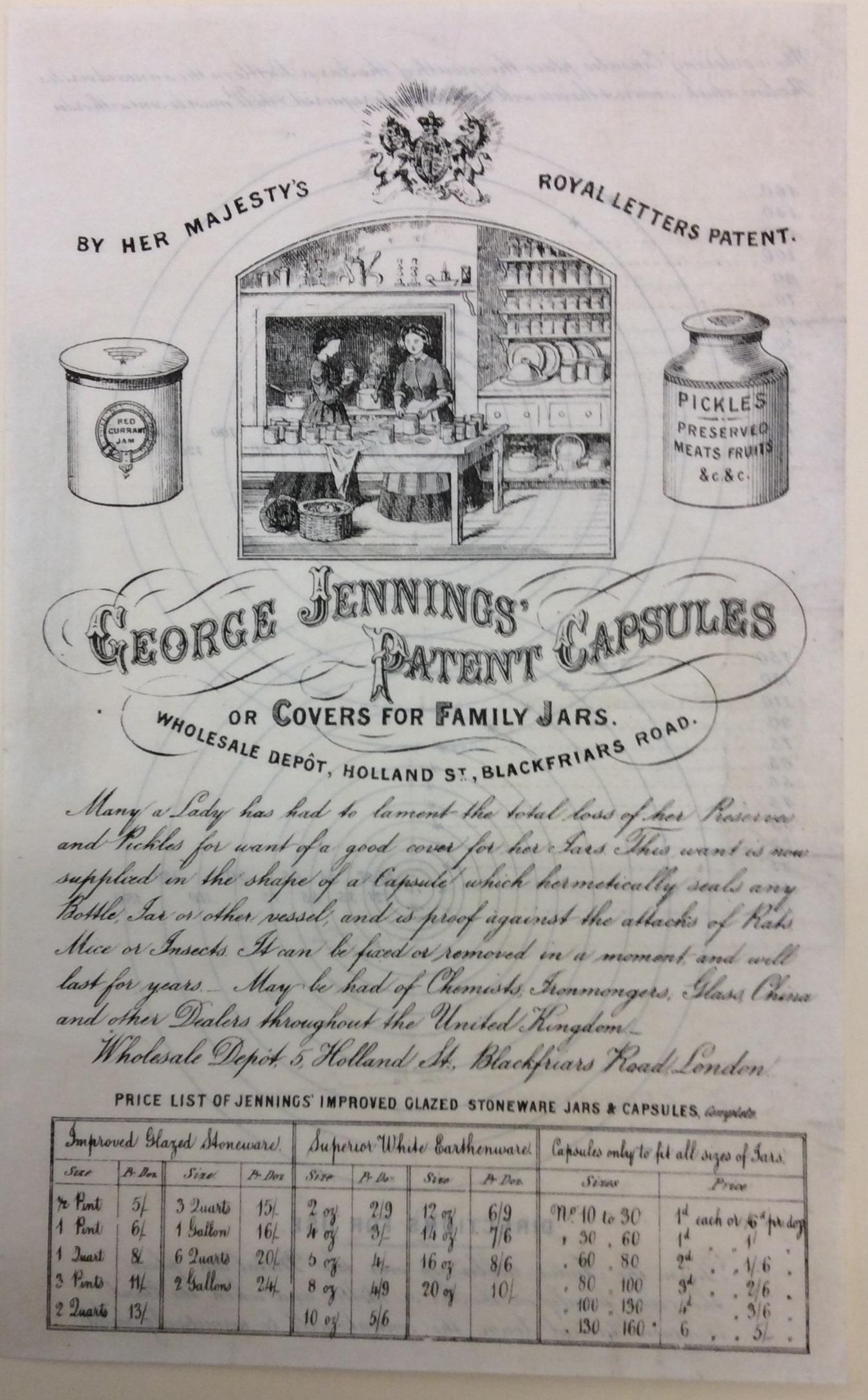 Jennings patent capsules.