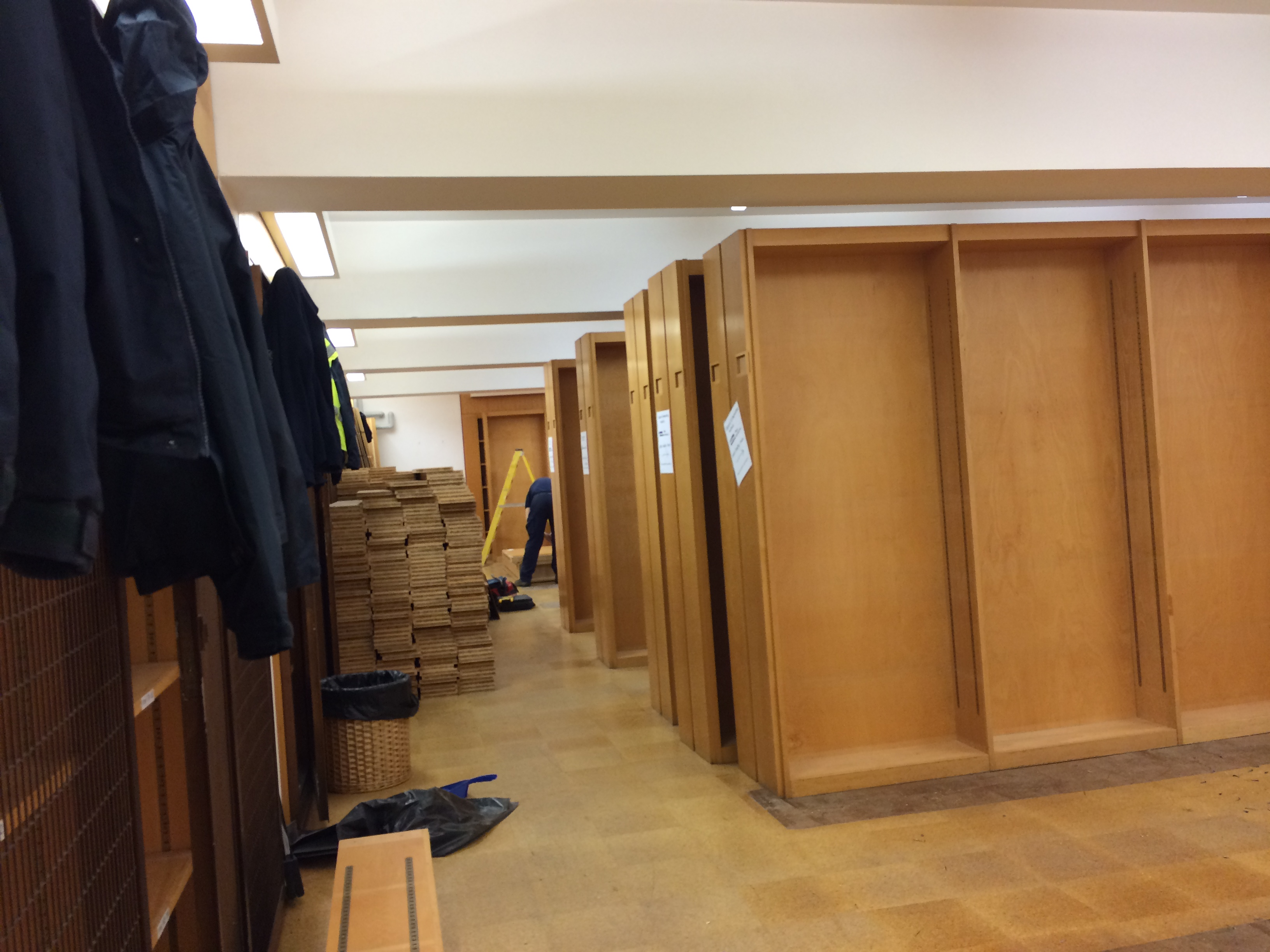 Level 2 bookcases being dismantled (2)